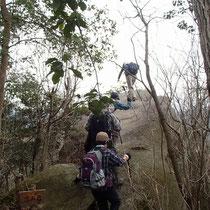 涼み岩と書いてある岩に登ってみると