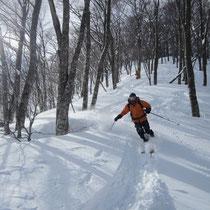 まだまだ、楽しい滑り。Mさん