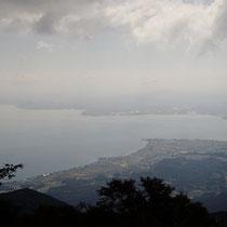 登り切った権現山からの眺め