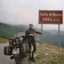 """Sella di Razzo (1.760 m)  46° 28' 39.6444"""" N, 12° 36' 55.7316"""" O"""