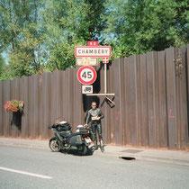 Chambéry (276 m)  45° 34′ N, 5° 55′ O
