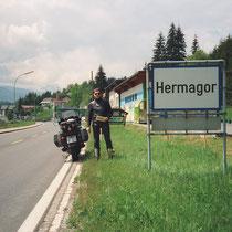 """Hermagor (590 m)  46° 37' 31.044"""" N 13° 22' 21.972"""" O"""
