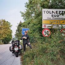 Tolmezzo (323 m)  46° 24′ 0″ N, 13° 1′ 0″ O