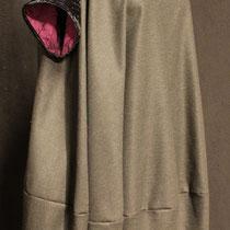 Robe coton et velours frappé noir