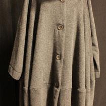Manteau laine et cachemire gris