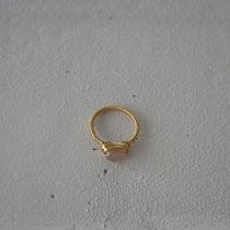 moonstone/brass ring
