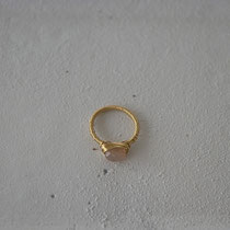 moonstone/brass ring
