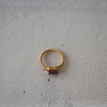 garnet/brass ring