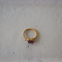 garnet/brass ring