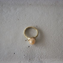pearl/brass(silver) ring