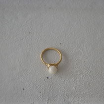 coral/brass ring