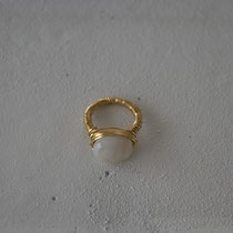 agate/brass ring