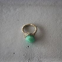 chrysoprase/brass ring