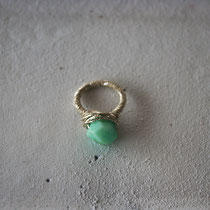 chrysoprase/brass ring