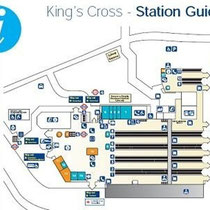 Plano de la estación de King's Cross