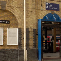 Anden 9 3/4 en la estación de King's Cross
