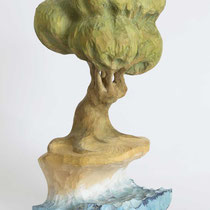 Tree H 27 × W 12 × D 11 cm Wood(Yellow cedar),Pigment,Glue,Drying oil 2015