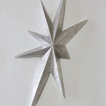 Twinkle No.2 H 32 × W 12 × D 3 cm Wood(Camphor wood),Silver leaf,Drying oil,Wax 2020