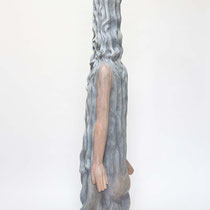 Liquid Dress H 113 × W 33 × D 22 cm Wood(Camphor wood),Pigment,Dye,Glue,Acrylic resin emulsion 2013