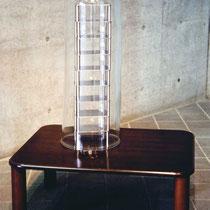 ちゃぶ台の上のちゃぶ台/Tea Tables on a Tea Table H 120 × W 100 × D 70 cm  Tea table,Stainless steel,Glass 2001