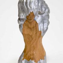 KUMO-TAKI-HITO H 12 × W 6 × D 4 cm Wood(Katsura),Pigment,Aluminum powder,Drying oil,Colored pencil,Acrylic resin emulsion 2019