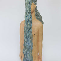 Waterfall H 81 × W 27 × D 27 cm Wood(Cypress),Pigment,Aluminum powder,Glue,Drying oil 2016