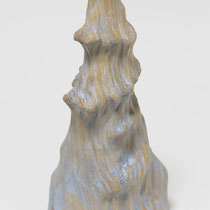 八面の滝/Eight-directions Waterfall H 22× W 10.5× D 10.5 cm Wood(Cypress),Pigment,Drying oil 2015