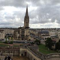Vue sur Caen depuis le chateau Ducal