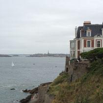 Vue sur St Malo depuis Dinard