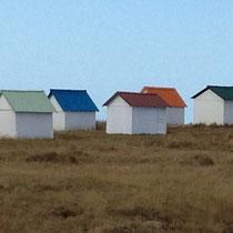 Cabanes de la Mielle près de Gouville sur Mer