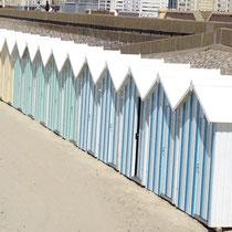 Cabines de plage au Crotoy