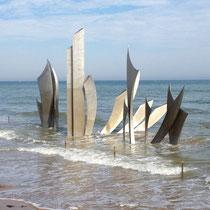 Omaha Beach par grande marée