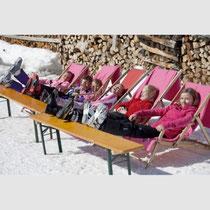 Bild: Wir lassen die Seele baumeln- in der Wintersonne