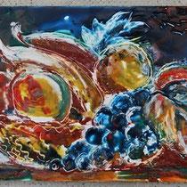 Frutta (encausto su tavola)