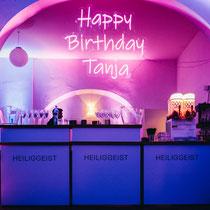 LED-Neonschild anlässlich eines runden Geburtstags