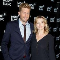 Moderator und Schlager-Star Maxi Arland mit Schauspielerin Tina Ruland bei der Montblanc Boutique-Erföffnung.