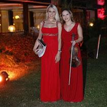 Das Duett auf das alle bei der Abendveranstaltung warteten, verzauberte mit himmlischen Harmonien zwischen Gesang und Geige.