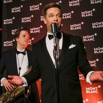 Für die musikalische Unterhaltung bei der Montblanc Boutique-Erföffnung in Hamburg sorgt Ausnahmetalent Tom Gäbel.