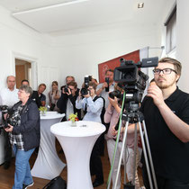 Dincertco, BauCam, Presse, Journalisten, Kamera, Kick-Off, Presse Kick-Off, Presseveranstaltung, Event, Ahrensburg, Hamburg, Erlenhof, Eventagentur, ExperiArts Entertainment