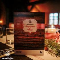 Damit das Catering auch vor dem probieren ins Auge der Gäste springt, biten wir in unserem Veranstaltungsportfolio auch das entwerfen von Grafiken und Werbemitteln, für zum Beispiel Menükarten an.