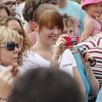 Auch die Gäste hatten sichtlich Spaß an dem Event in Greifswald, wer eine Kamera dabei hatte, konnte viele gute Fotos der Stars machen.