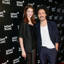 Star Stylist Boris Entrup erschien mit Model Antonia Wesseloh zur großen Sause im neuen Konzeptstore von Montblanc.