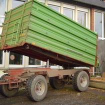 Anlieferung der Holzhackschnitzel