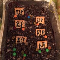 Dirt cake graveyard