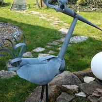 1. Kranich,  Vogel - Dekoidee Haus Garten Gartendekoration, Deko, Garten, Metall, Zink, Zinkkunst, Kunst aus Zink, Kunst aus Blech