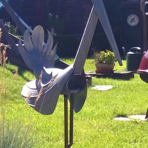 2. Kranich, Vogel - Dekoidee Haus Garten Gartendekoration, Deko, Garten, Metall, Zink, Zinkkunst, Kunst aus Zink, Kunst aus Blech
