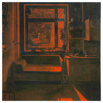 o.T., 110 x 110 cm, Öl auf Baumwolle, 2014