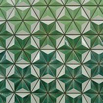 鋳込み成形タイルの施工例 某地下鉄駅装飾内壁タイル