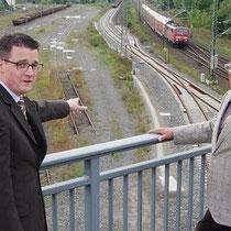 Mit Helmut Brandt am Stolberger Hauptbahnhof. Neue Wege gehen! Ein Güterverteilzentrum für Stolberg!