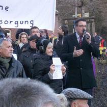 Bei der Demonstration für den Erhalt der Stolberger Notfallpraxis